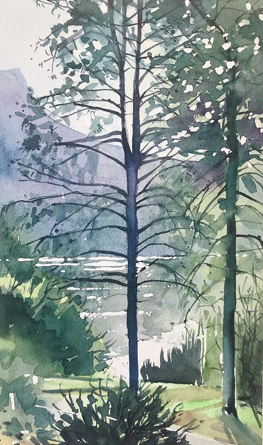 October Morning - Malibou Lake Painting