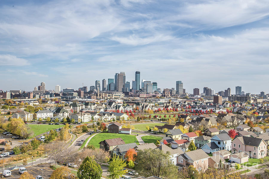 Fall Minneapolis Skyline by Habashy Photography