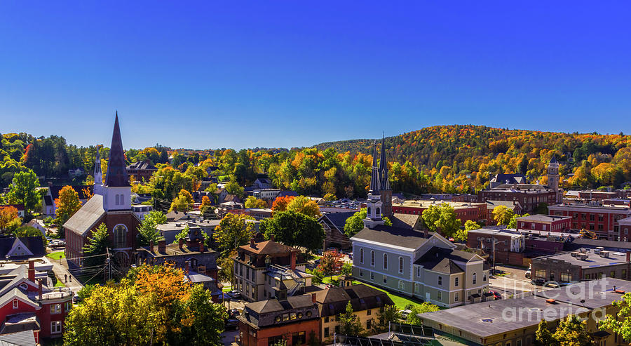 Fall morning in Montpelier by Scenic Vermont Photography