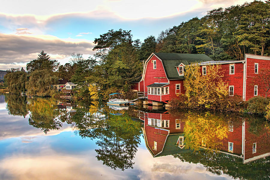 Fall Morning Reflections by Harriet Feagin