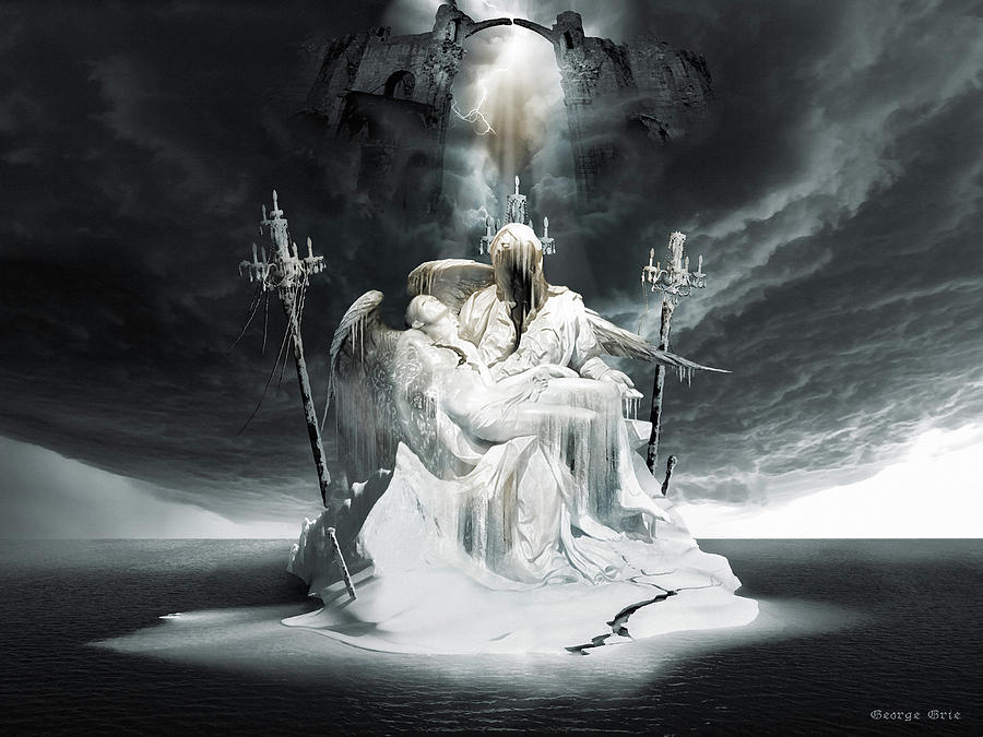 Fall Of Lucifer Pieta Gods And Heroes Series Digital Art