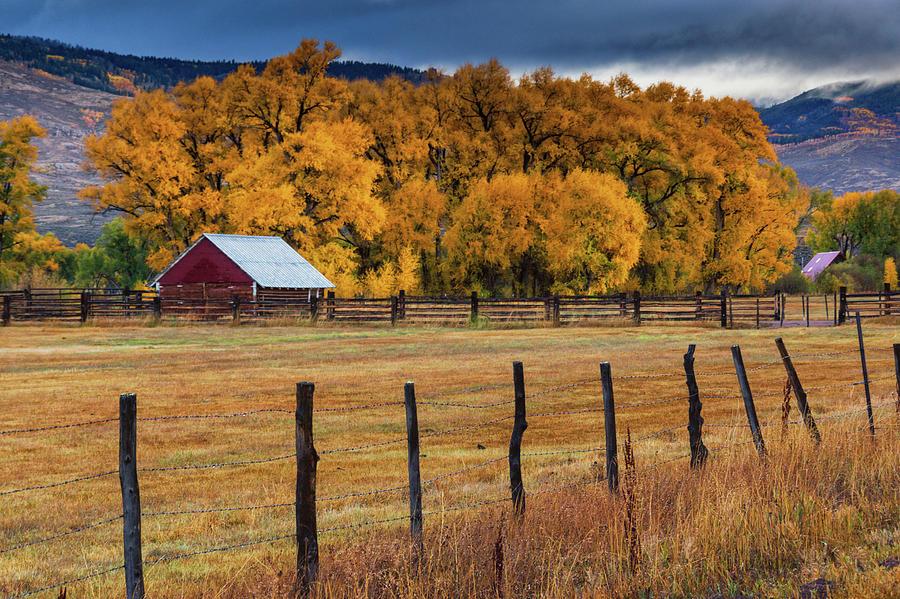 Fall On The Farm by John De Bord