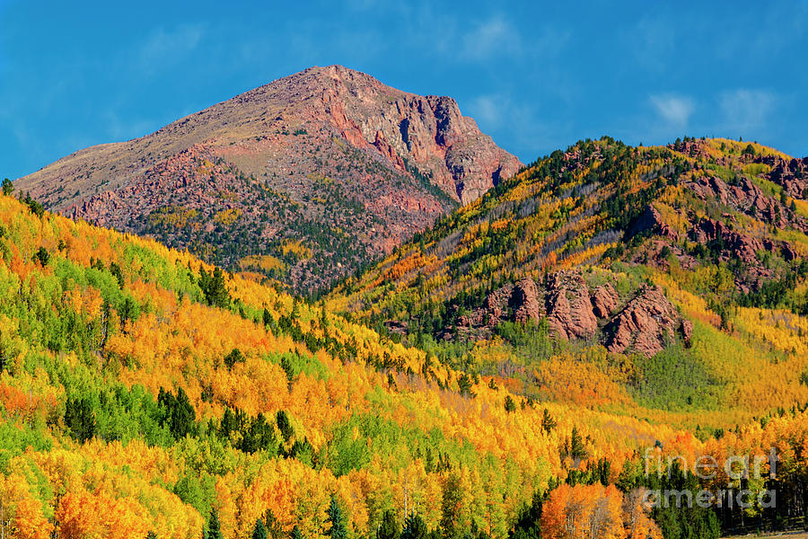 Fall On The North Face Of Pikes Peak Photograph