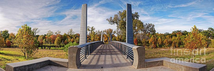 Fall Panorama Of Carruth Pedestrian Bridge At Buffalo Bayou Park - City Of Houston Southeast Texas Photograph
