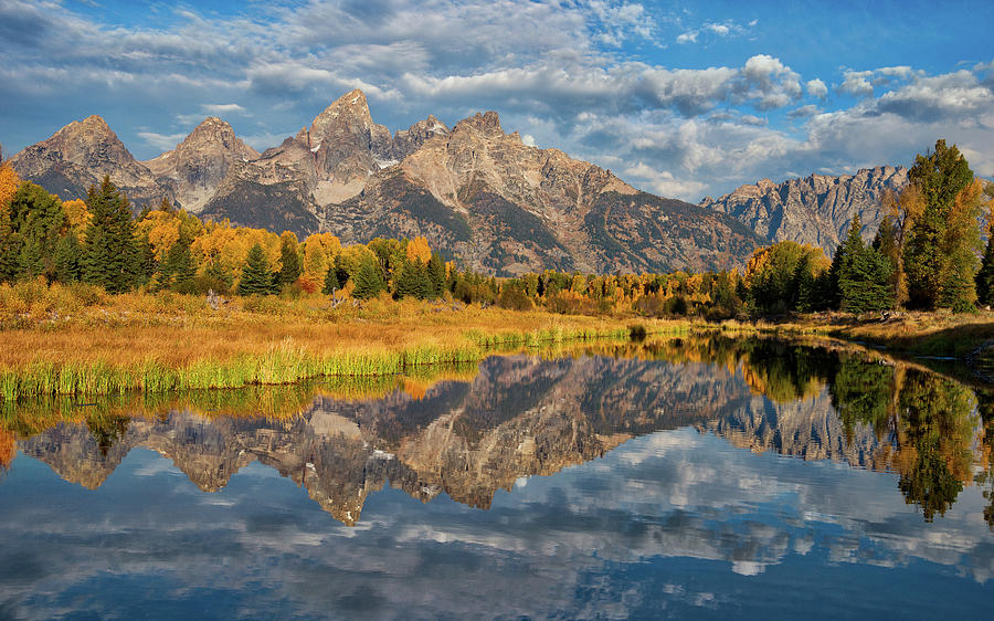 Fall Reflections in the Tetons by Darren White