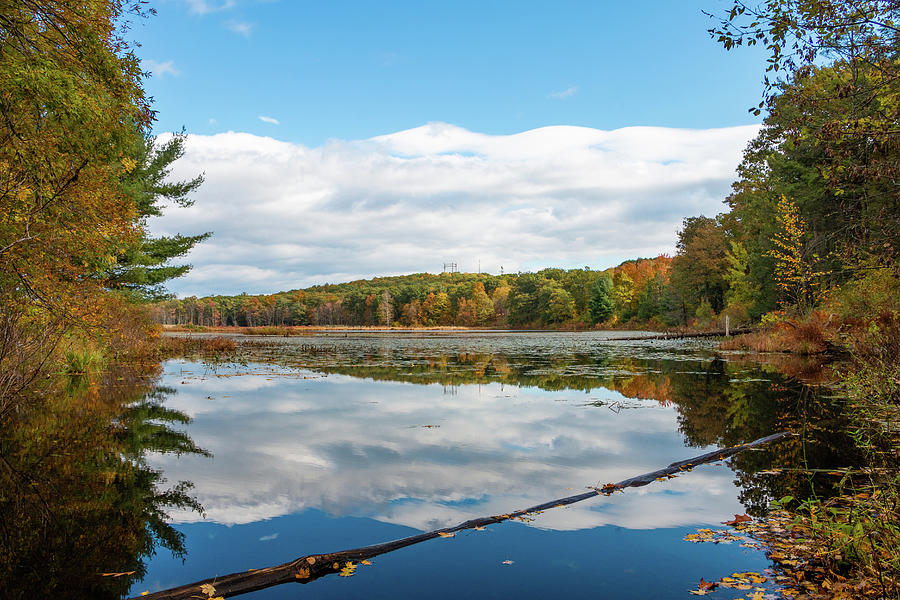 Pond Photograph - Fall Reflections on Louisa Pond by Jeff Severson