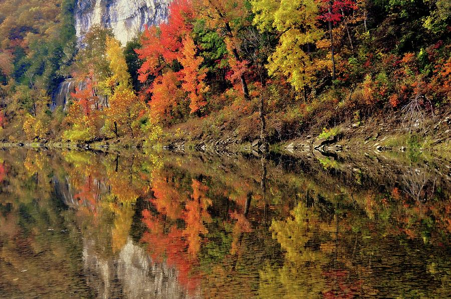 Fall Reflections On The Buffalo by Marty Koch