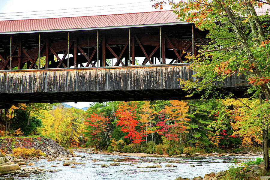 Fall - Saco River Covered Bridge by Robert Clifford