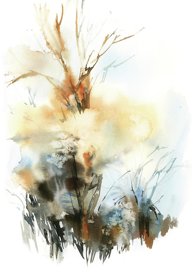 Vertical Painting - Fall Scape Vi by Sophia Rodionov