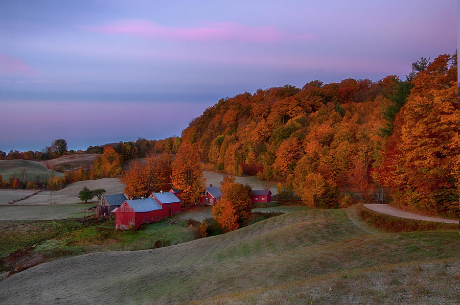 Fall Sunrise on Jenne Farm by Joann Vitali