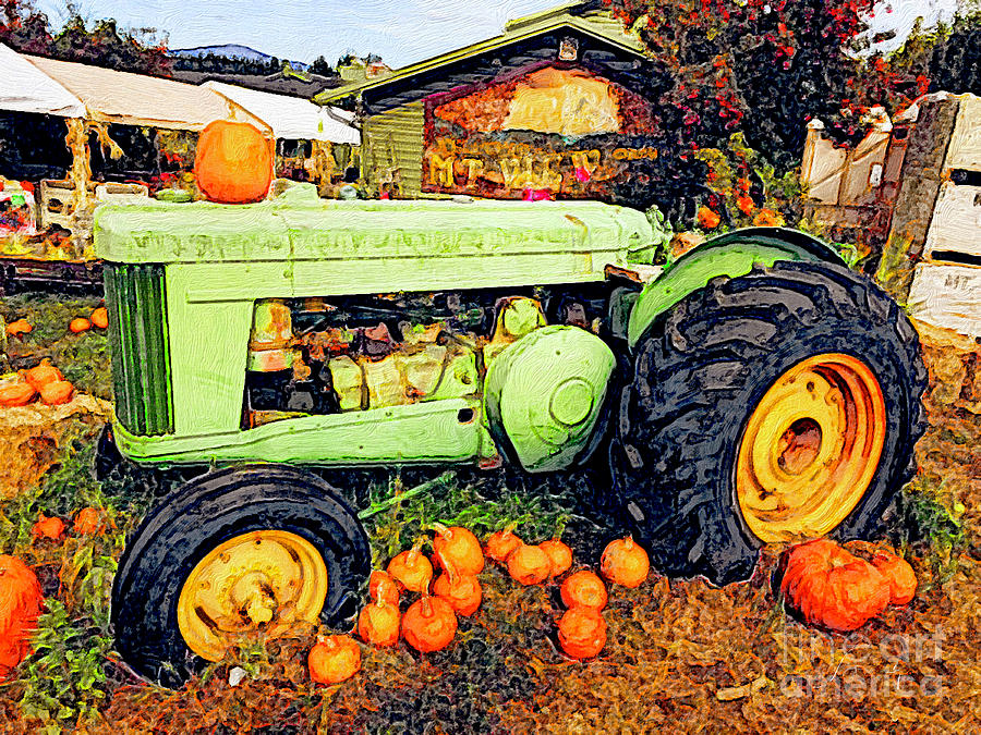 Fall Tractor by Jeanette French
