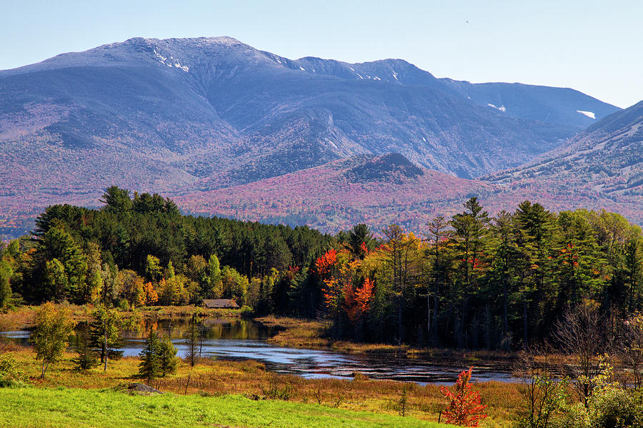 Fall View of Field and Cannon Mountain  by Betty Pauwels
