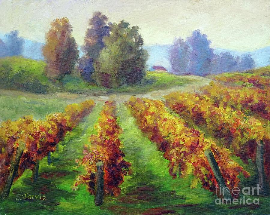 Fall Vineyard Trail by Carolyn Jarvis