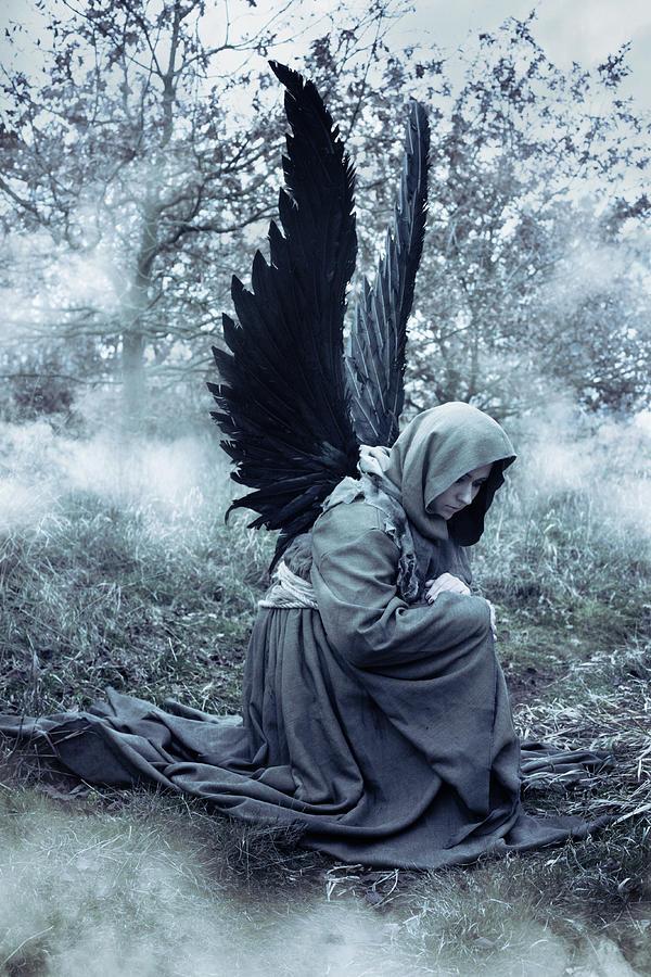 Angel Digital Art - Fallen Angel by Cambion Art