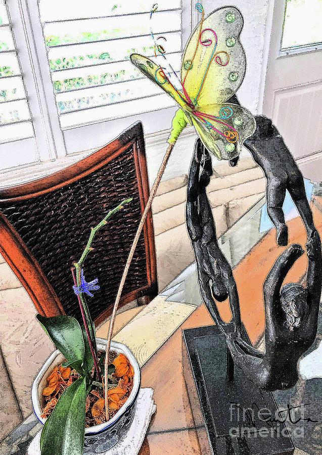 Fallen Bloom Orchid  by Art Mantia