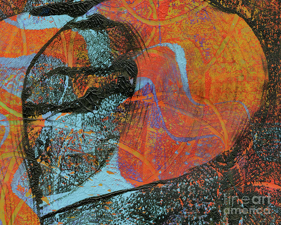 Abstract Painting - Falling Leaves by Laura L Leatherwood