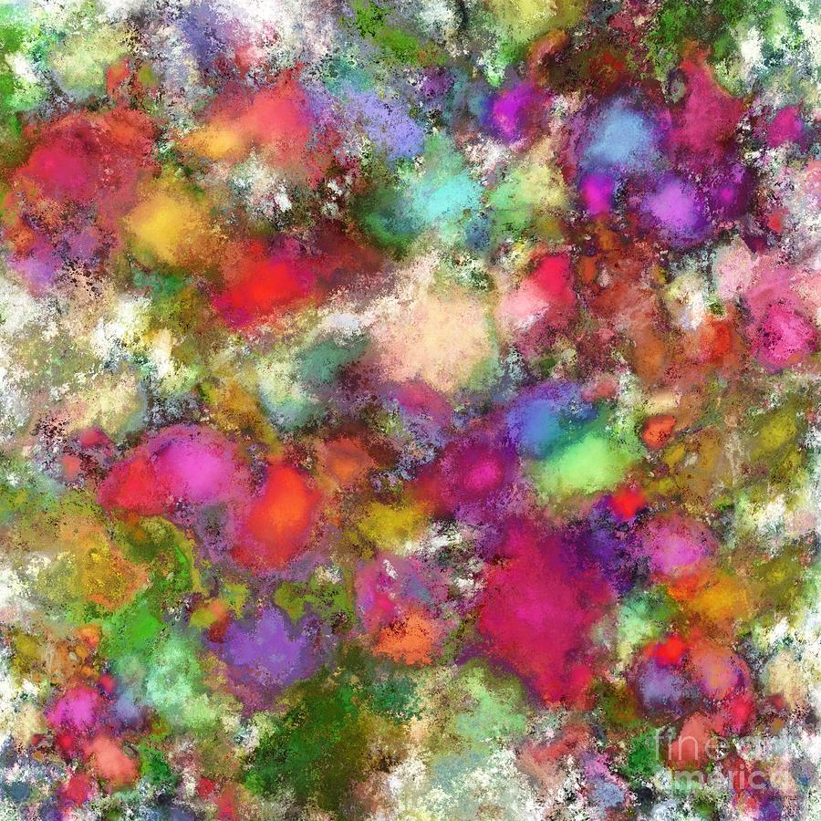 Flowers Digital Art - Falling Petals by Keith Mills