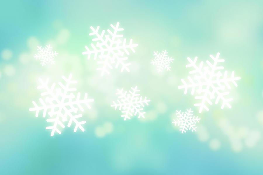 Falling Snowflakes Digital Art by Nicholas Monu