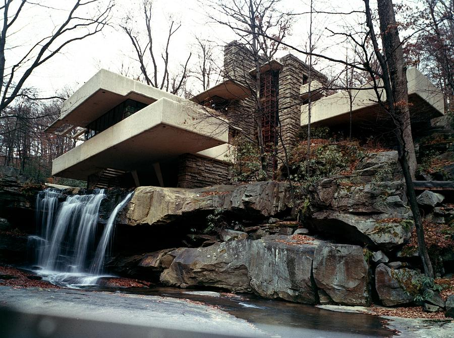 Falling Water House Photograph by Archive Photos