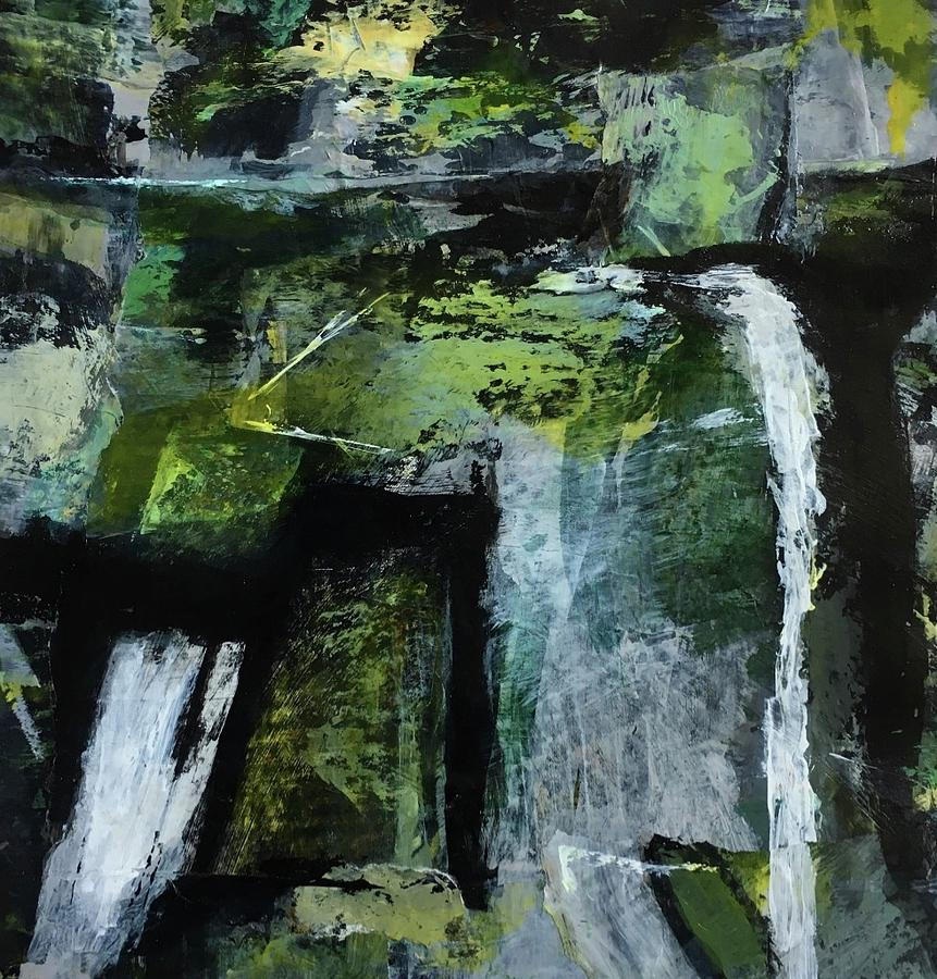 Contemporary Painting - Falling Water by Mary Sullivan