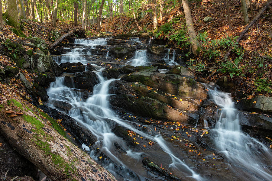 Waterfall Photograph - Falling Waters in October by Jeff Severson