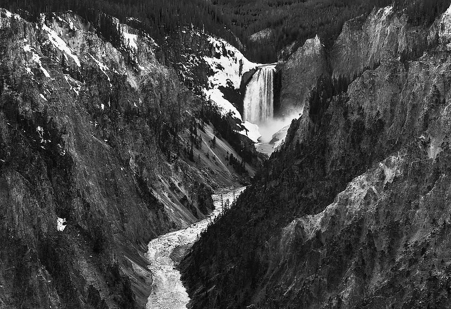 Canyon Photograph - Falls And Canyon by John Christopher