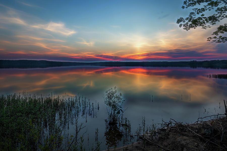 Falls Lake Sunrise by Wade Brooks