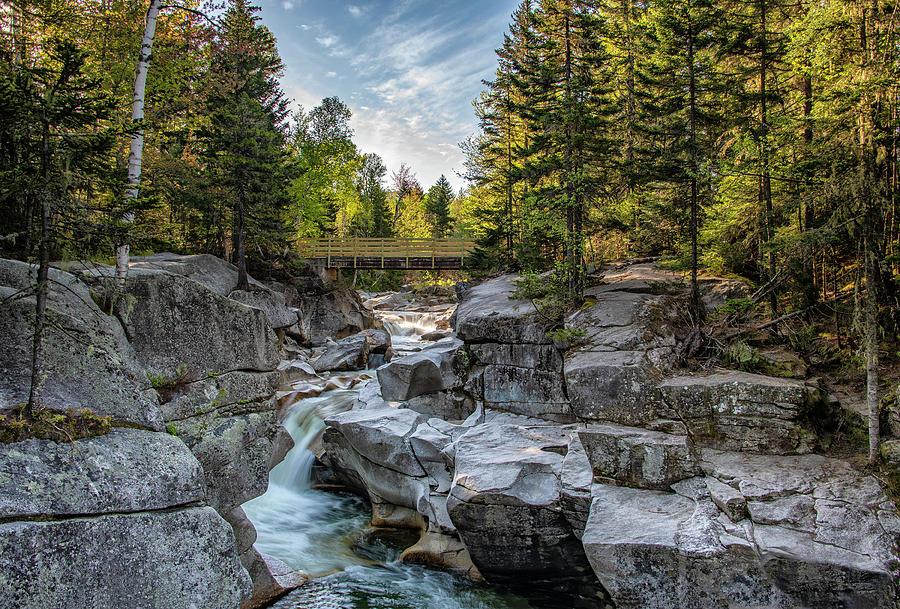 Falls on the Ammonoosuc River by Gordon Ripley