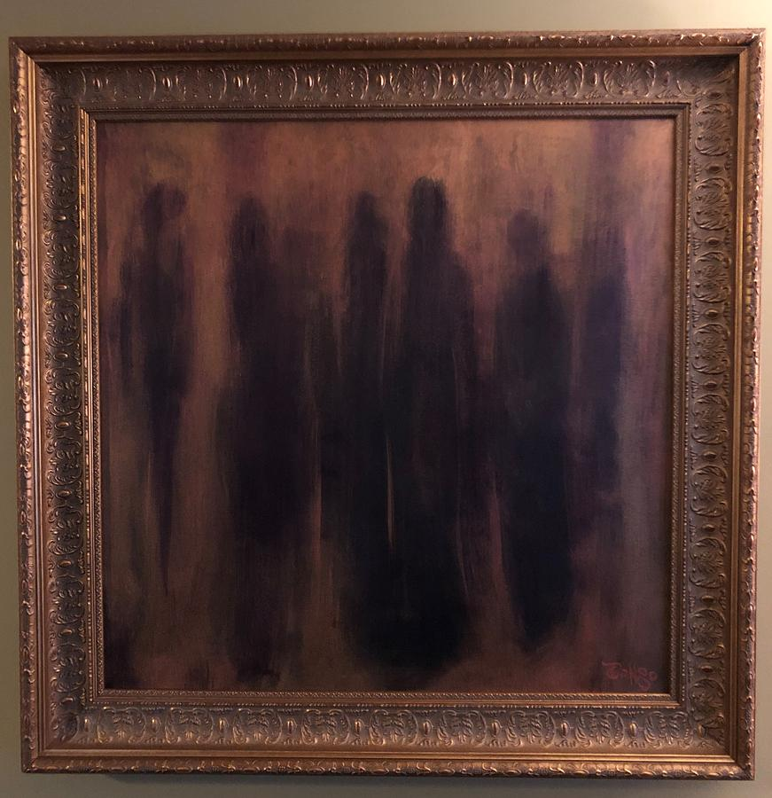Familiar Silhouettes Framed Original Painting by Ron Tango Jr
