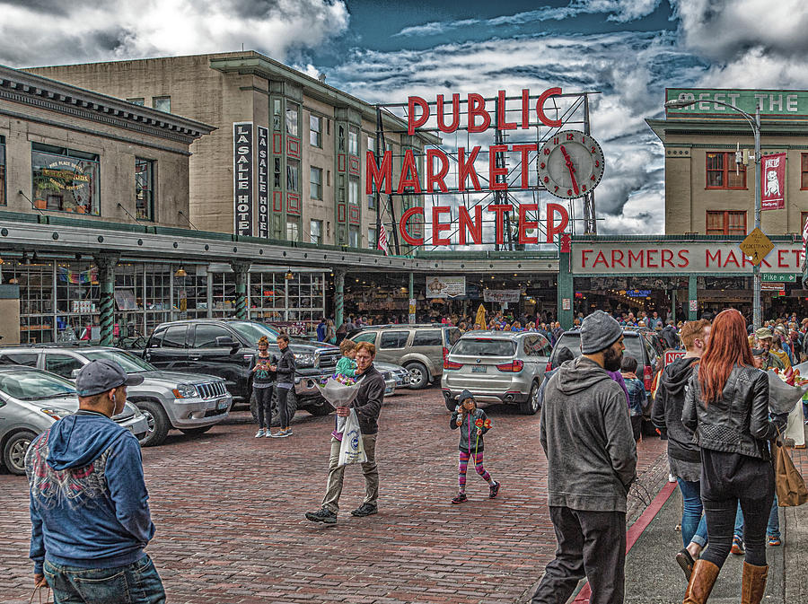 Families at Pike Place Market by Darryl Brooks