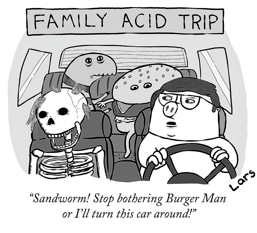 Family Acid Trip Drawing by Lars Kenseth
