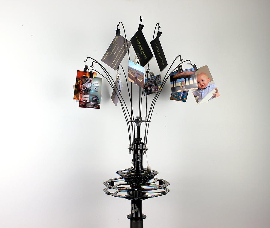 Bicycle Frame Sculpture - Family and Friends Cycle by Michael Ediza