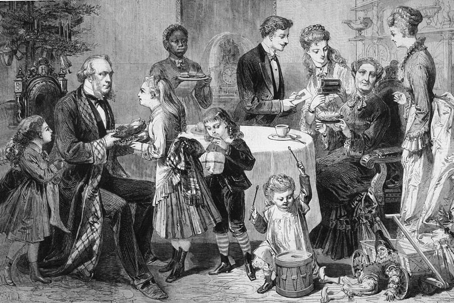 Family Christmas Digital Art by Hulton Archive