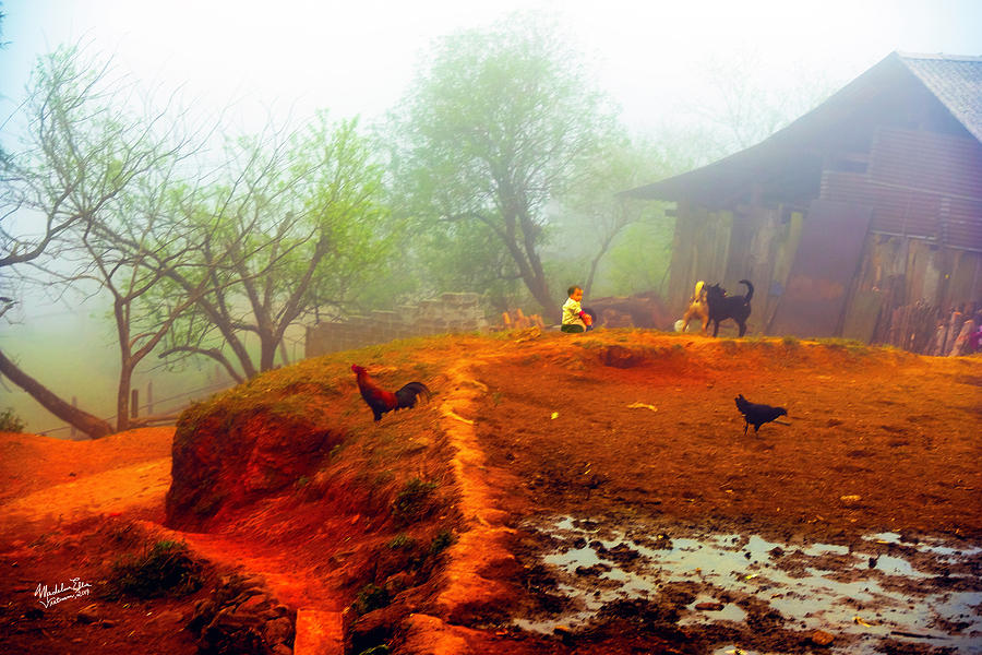 Family Photograph - Family On A Hill In Sapa, Vietnam by Madeline Ellis