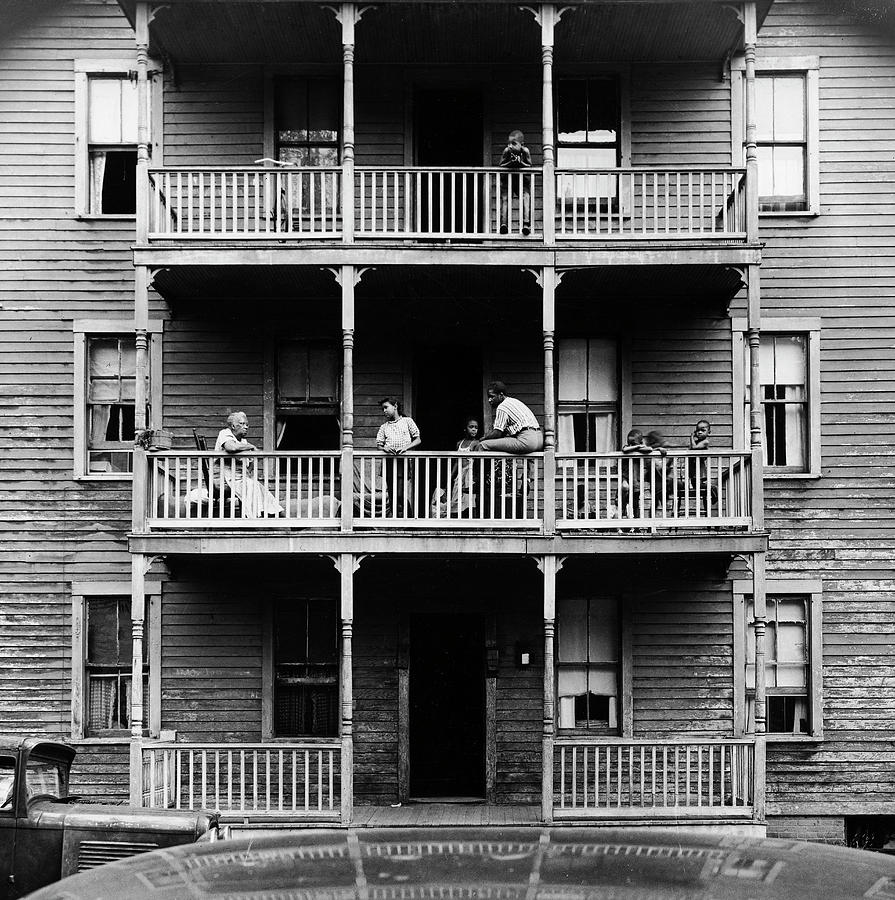 Family On Balcony Of Apartment Building Photograph by Gordon Parks