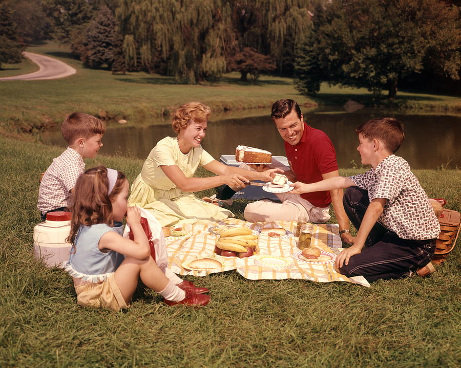 Family Picnic Photograph by H. Armstrong Roberts