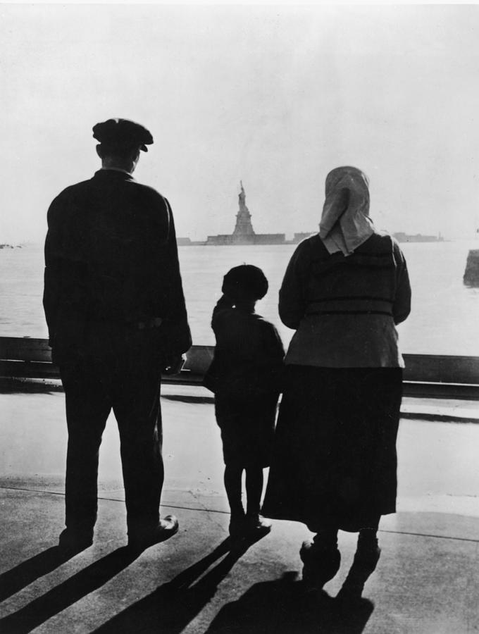 Family Views Statue Of Liberty From Photograph by Fpg