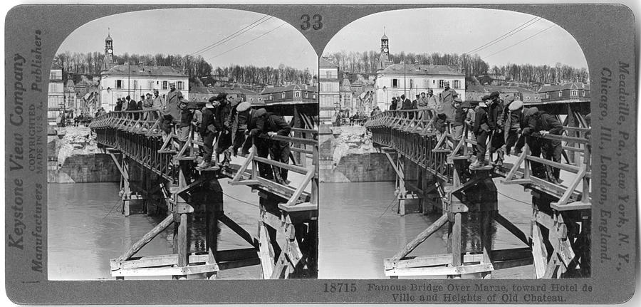 Famous Bridge Over Marne Photograph by The New York Historical Society