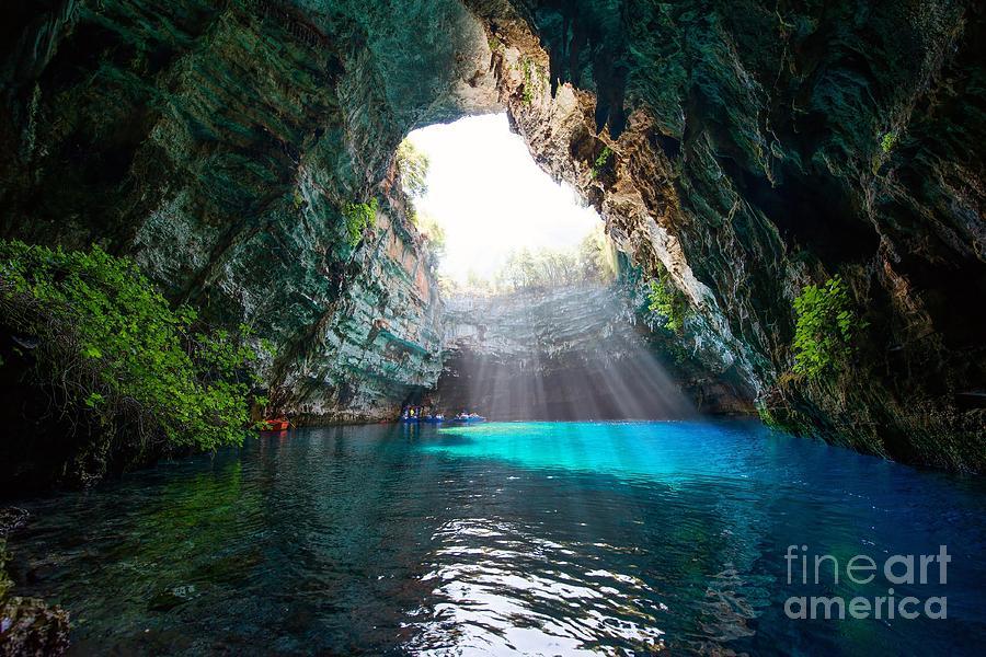 Pagan Photograph - Famous Melissani Lake On Kefalonia by Piotr Krzeslak