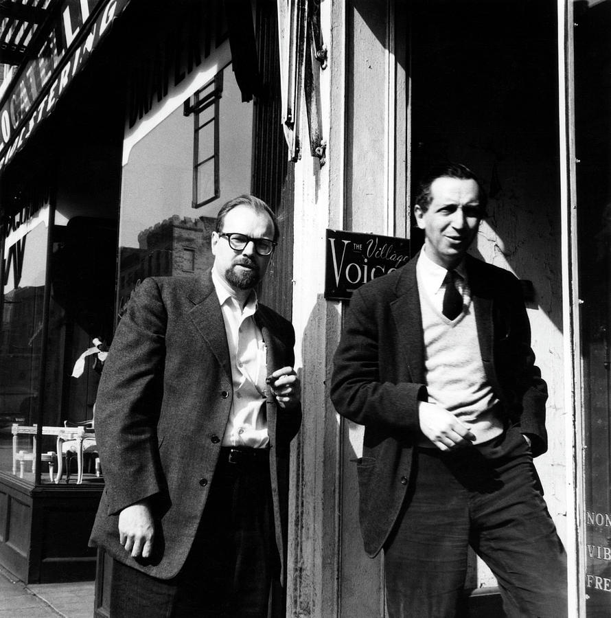 Fancher & Wolf Outside The Village Voice Photograph by Fred W. McDarrah