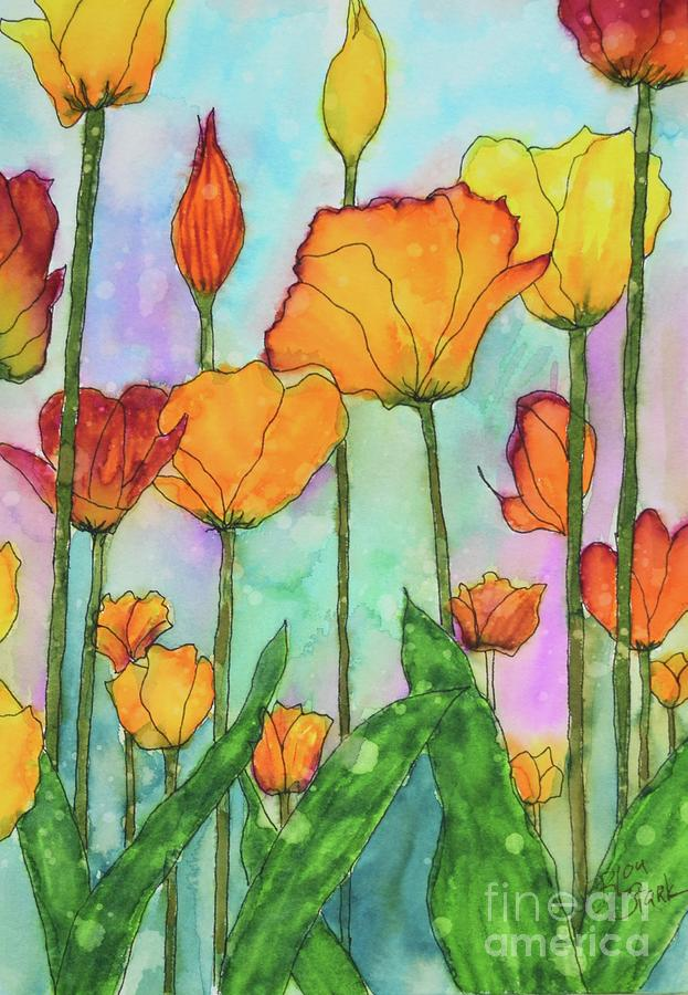 Fanciful Tulips  by Barrie Stark