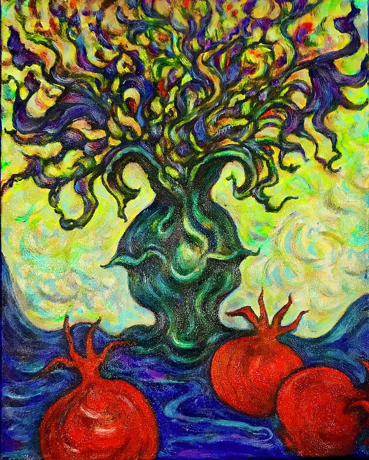 Fancy Pomegranates by Rae Chichilnitsky