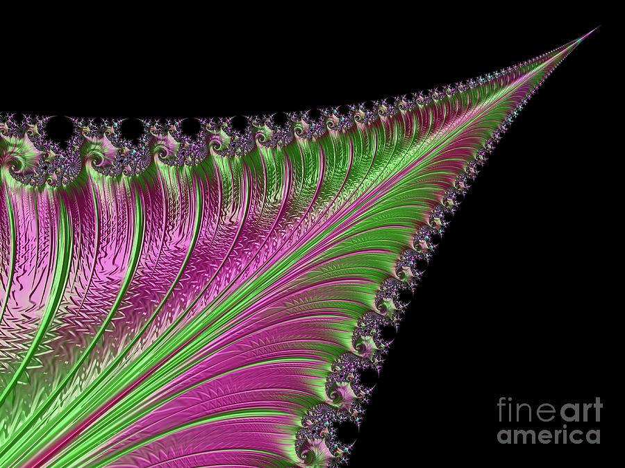 Fractals Digital Art - Fancy Sword by Elisabeth Lucas