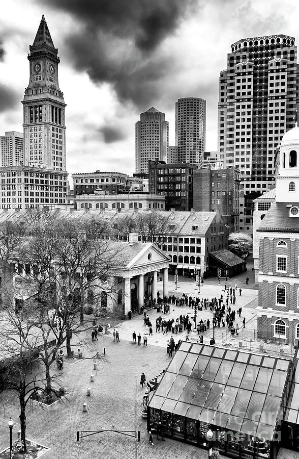 Faneuil Hall Photograph - Faneuil Hall Marketplace Boston by John Rizzuto