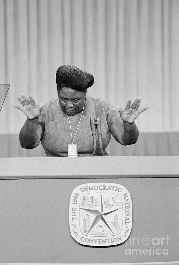 Fannie Lou Hamer Using Her Hands While Photograph by Bettmann