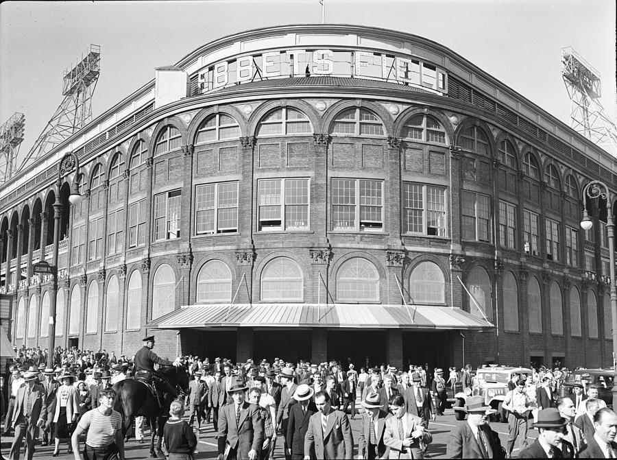 Fans Leave Ebbets Field Photograph by David E. Scherman