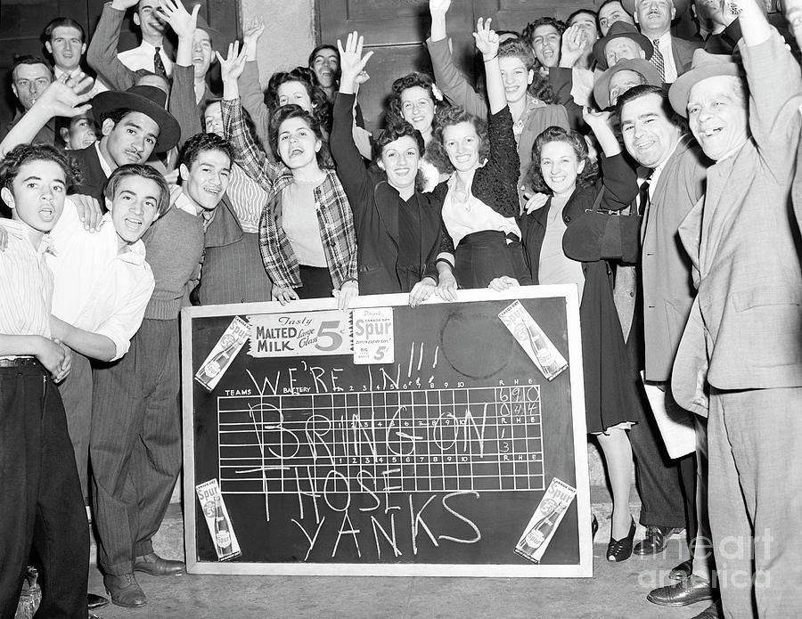 Fans Wscoreboard, Message Scrawled Photograph by Bettmann