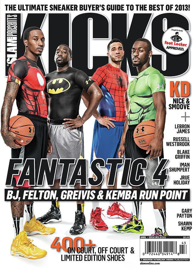 Fantastic 4: BJ, Felton, Greivis & Kemba Run Point SLAM Cover Photograph by Atiba Jefferson
