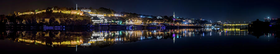 Reflection Photograph - Fantastic Belgrade night reflection by Dejan Kostic