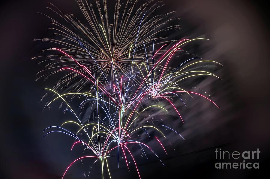 Symphony Photograph - Fantastic Fireworks by Amy Dundon